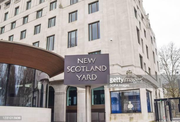 The New Scotland Yard building, London.