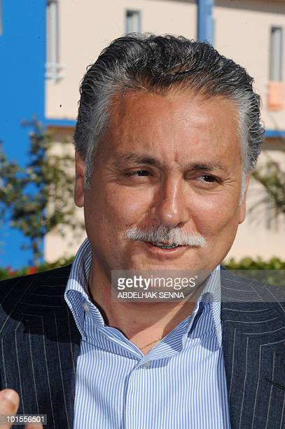The new secretarygeneral of the Moroccan Progress and Socialist Party Mohamed Nabil Benabdallah attends on May 30 2010 the 8th party congress in...
