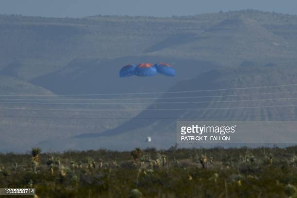 """The New Shepard capsule lands on October 13 from the West Texas region, 25 miles north of Van Horn. - """"Star Trek"""" actor William Shatner went to where..."""