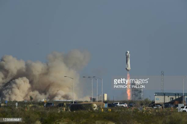 """The New Shepard rocket launches on October 13 from the West Texas region, 25 miles north of Van Horn. - """"Star Trek"""" actor William Shatner is going to..."""