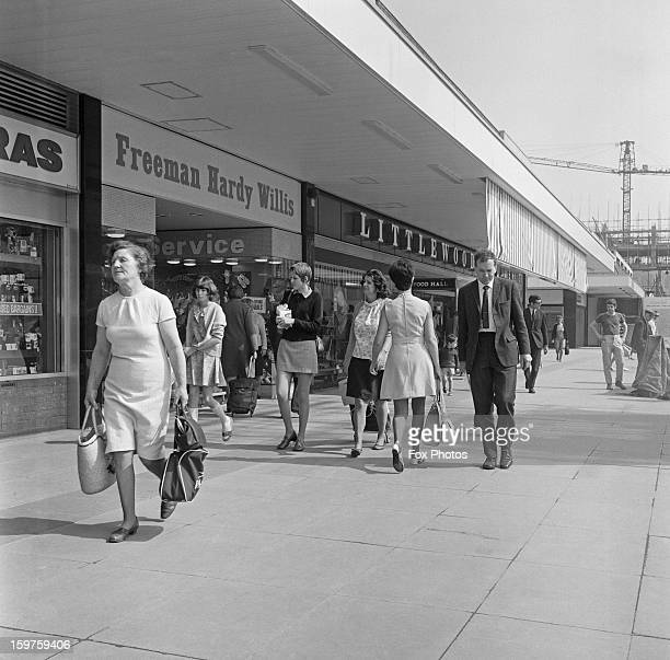 The new shopping centre in Romford Essex home to such stores as Freeman Hardy Willis and Littlewoods 2nd June 1970