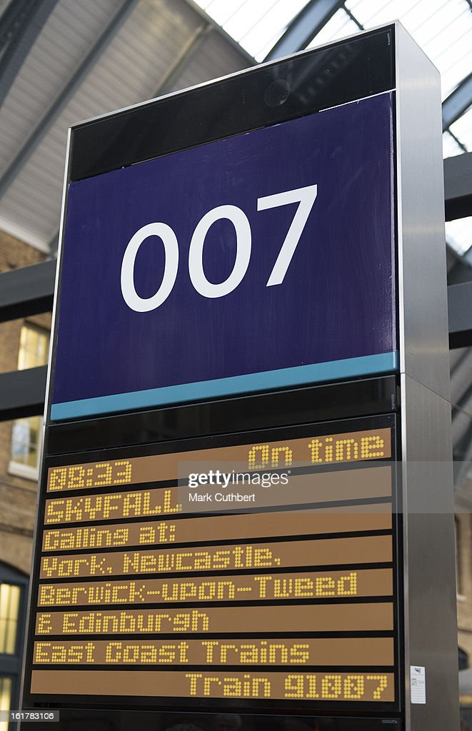 The new Skyfall Train on platform 007 at Kings Cross Station on February 16, 2013 in London, England.