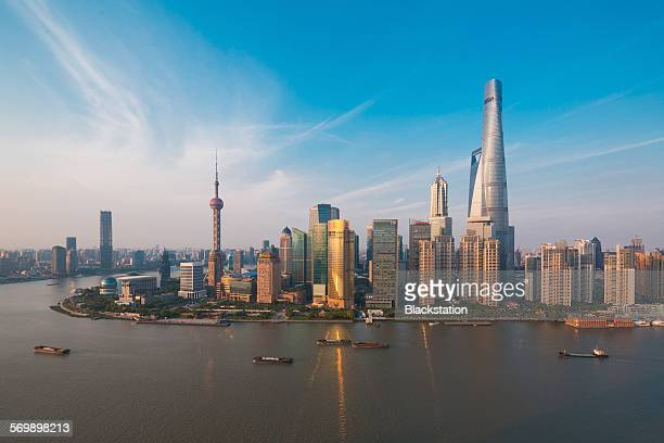The new skyline of the Huangpu River
