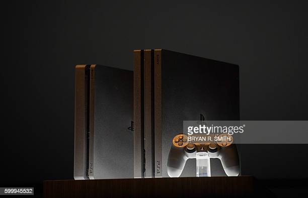 The new Sony Playstation 4 and Playstation 4 Pro are unveiled at the Playstation Theater on September 7 2016 in New York / AFP / Bryan R Smith
