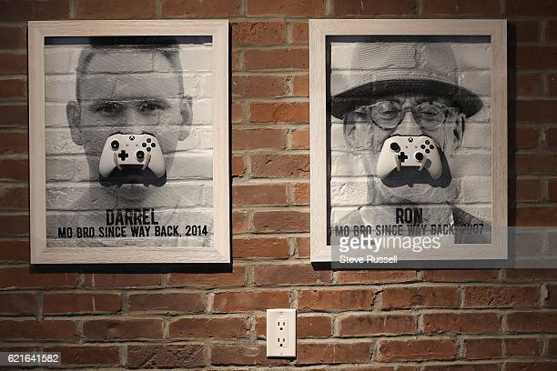 TORONTO ON OCTOBER 28 The new space that features a lot of moustaches as well as a pool table and Xbox station The Movember Foundation from the...
