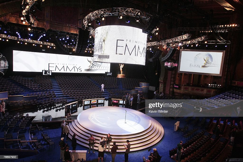 First Look at the 59th Emmy Awards' New Stage : News Photo