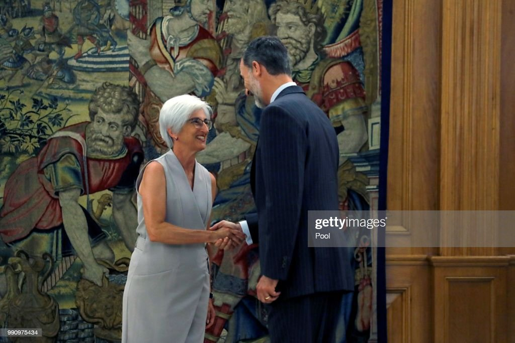 King Felipe of Spain Receives New Attorney General at Zarzuela Palace
