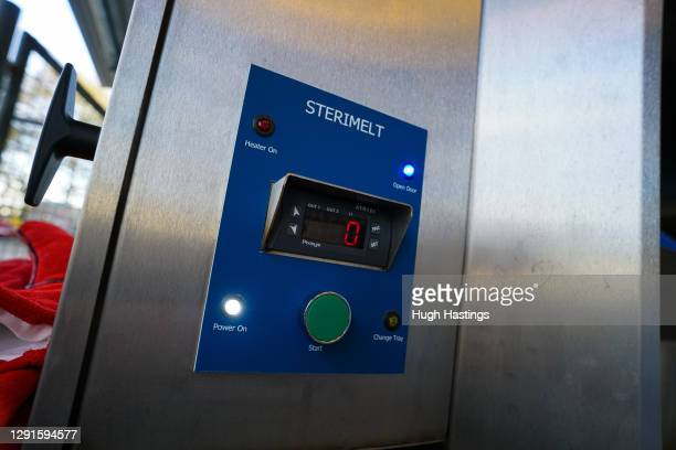 The new Sterimelt waste recycling unit at the Royal Cornwall Hospital, on 15 December, 2020 in Truro, England. The hospital is the first in the UK to...