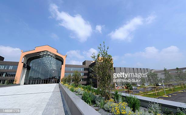 The new studios of La Cite Europeenne du Cinema are pictured on June 20 2012 in SaintDenis outside Paris This ambitious project initiated by French...