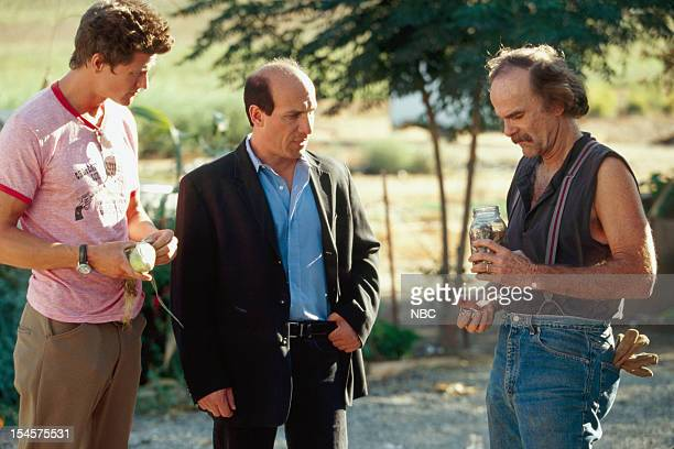 MAN 'The New Stuff' Episode 22 Pictured Vincent Ventresca as Darien Fawkes Paul BenVictor as Robert Albert Hobbes Christopher Fairbanks as Bray
