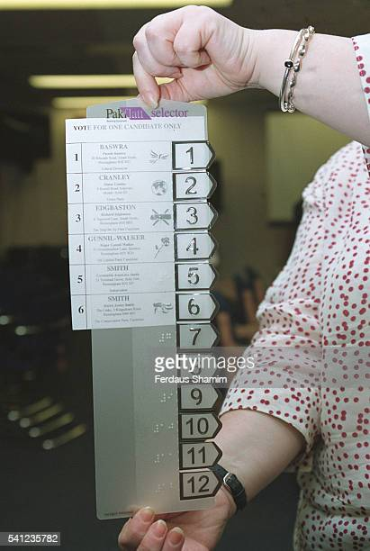 The new tactile voting device which allows Britain's 17 million blind and partially sighted people to vote independently