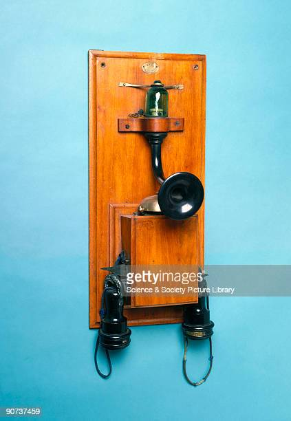 The New Telephone Company formed in 1885 offered these telephones for sale at £16 a pair in competition with the United Telephone Company which with...