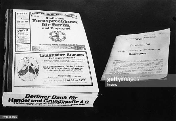 The new telephone directory for Berlin Photograph February the 20th 1930 [Das neue Fernsprechbuch fr Berlin Photographie Februar 1930]