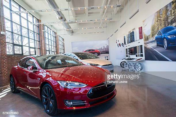 The new Tesla Motors showroom and service center is almost ready to open in the Red Hook neighborhood of Brooklyn in New York seen on Saturday March...