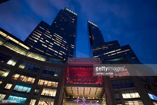 The New Time Warner Center at Columbus Circle Designed by David Childs of Skidmore Owings Merrill the building opened in 2004 Comprised of two towers...