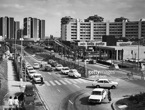 The new town of Creteil in France in 1975