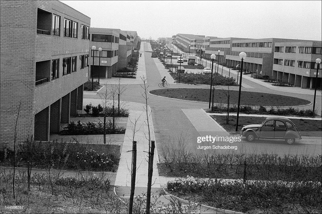 The 'new town' of Milton Keynes in Buckinghamshire, 1972.