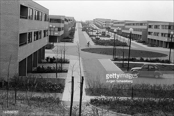 The 'new town' of Milton Keynes in Buckinghamshire 1972