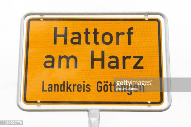 The new town sign 'Hattorf am Harz County Goettingen' stands in Hattorf Germany 31 October 2016 The counties of Goettingen and Osterode am Harz are...