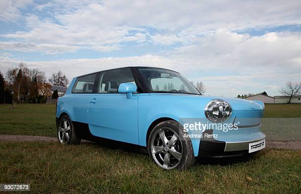 The new Trabant nT is pictured on November 12 2009 in WilkauHasslau near Zwickau Germany Auto body manufacturer IndiKar presented newly at the...