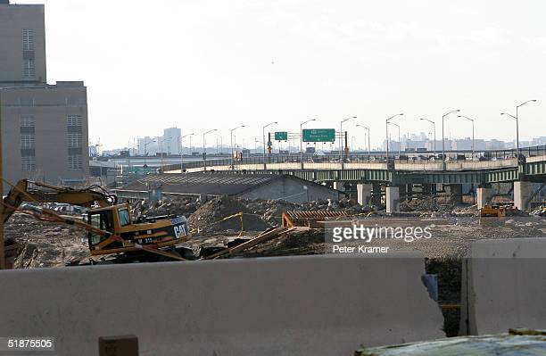 The new Trump Project that Apprentice winner Kelly Perdew will take over is seen on the West Side Highway on December 17 2004 in New York City