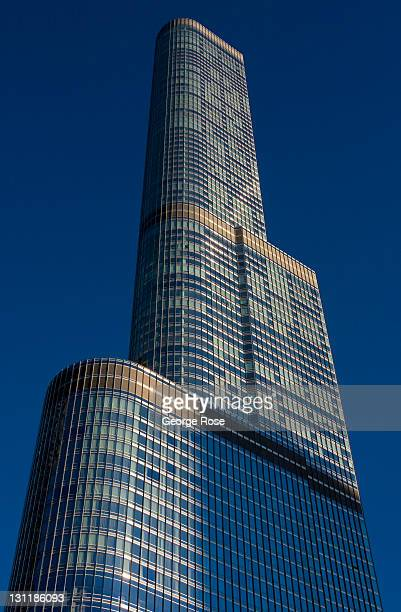 The new Trump Tower is viewed on October 17, 2011 in Chicago, Illinois. According to reports, with a population of 2.7 million, Chicago is the...