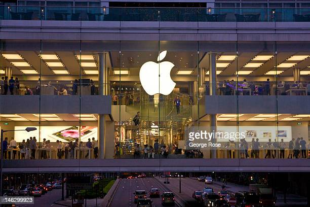 The new twostory Apple Store in the City Centre draws a large crowd on May 29 in Hong Kong China Viewed as one of the world's major trade centers...