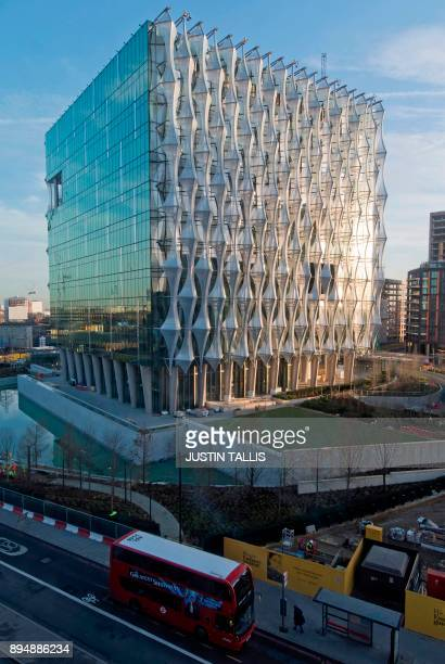 The new US Embassy is pictured in Embassy Gardens in southwest London on December 18 2017 The new US Embassy is expected to cost around one billion...