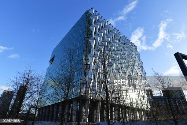 The new US Embassy nears completion in Nine Elms Battersea in south London which has officially opened days after hitting back at Donald Trump for...