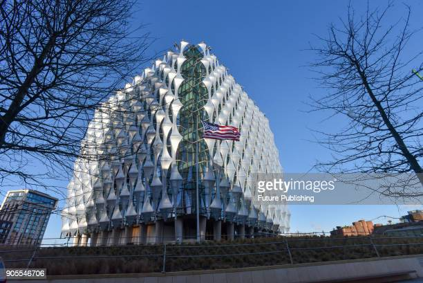 The new US embassy opens today at Nine Elms Lane on January 16 2018 in London England PHOTOGRAPH BY Matthew Chattle / Barcroft Images