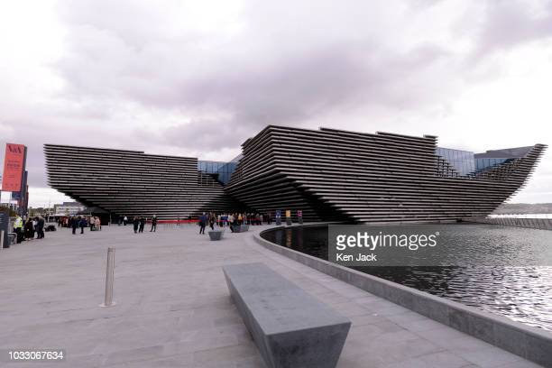 The new VA Dundee museum as local community groups get a preview on the day before the official opening on September 14 2018 in Dundee Scotland