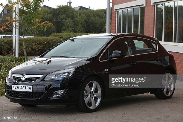 The new Vauxhall Astra which is launched today at the Frankfurt Motorshow on September 15 2009 in Ellesmere Port England Prime Minister Gordon Brown...