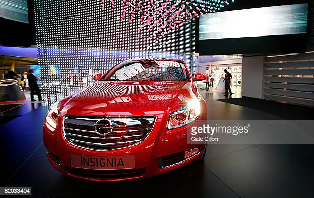 The new Vauxhall Insignia is displayed at the British International Motor Show on July 22 2008 in London England The 2008 British International Motor...