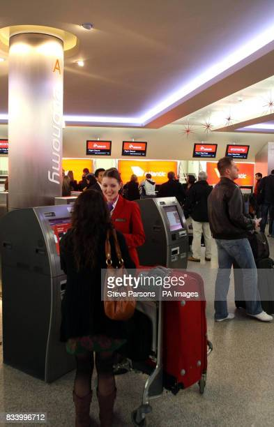 The new Virgin Atlantic check-in area which was opened by