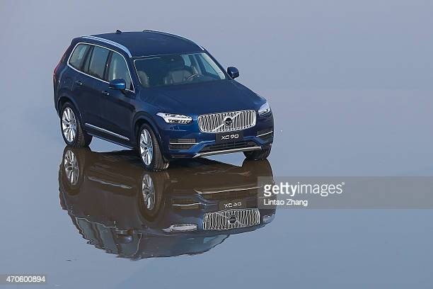 The new Volvo X90 Car at the 18th hole during the pro-am prior to the start of the Volvo China Open at Tomson Shanghai Pudong Golf Club on April 22,...