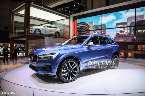 The New Volvo XC60 on display during the second press day of the Geneva Motor Show 2017 at the Geneva Palexpo on March 8 2017 in Geneva Switzerland