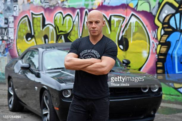 The new wax figure of US actor Vin Diesel for Madame Tussauds Berlin is unveiled at Cassiopeia Nightclub on July 15, 2020 in Berlin, Germany. The...
