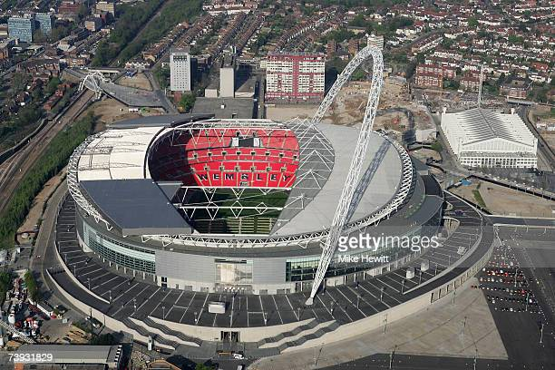 The new Wembley stadium on April 20, 2007 in north London, England.