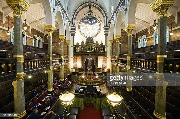 The New West End Synagogue is pictured in Bayswater West London on March 3 2009 The synagogue is to receive money from the English Heritage and the...