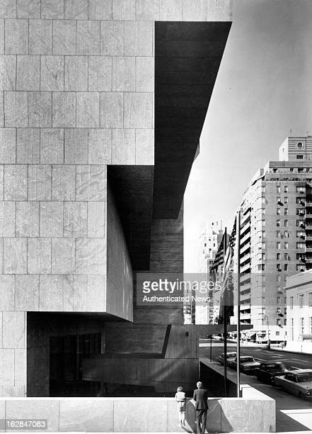 The New Whitney Museum Of American Art building on 75th Street in New York City New York 1955