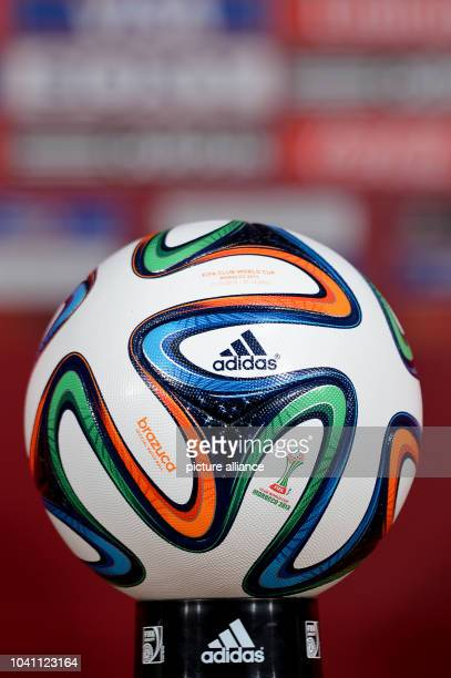 The new World Cup ball Brazuca from Adidas during an FC Bayern Munich training session at the stadium 'Stade Adrar' in Agadir Morocco 20 December...