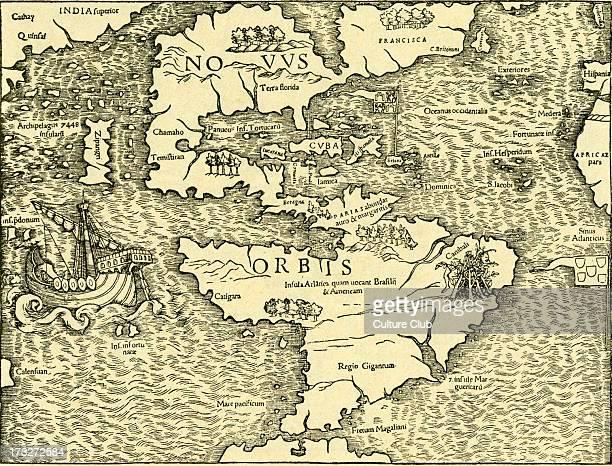 The New World map in Ptolemy 's 'Geographia Universalis Vetus et Nova complectens' 1540