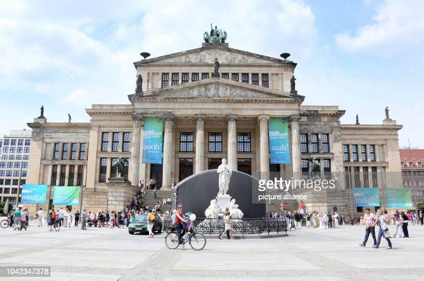 The new writing 'Konzerthaus Berlin' is unveiled on the Konzerthaus inBerlinGermany 15June 2013 It is the first time that the name of the building...