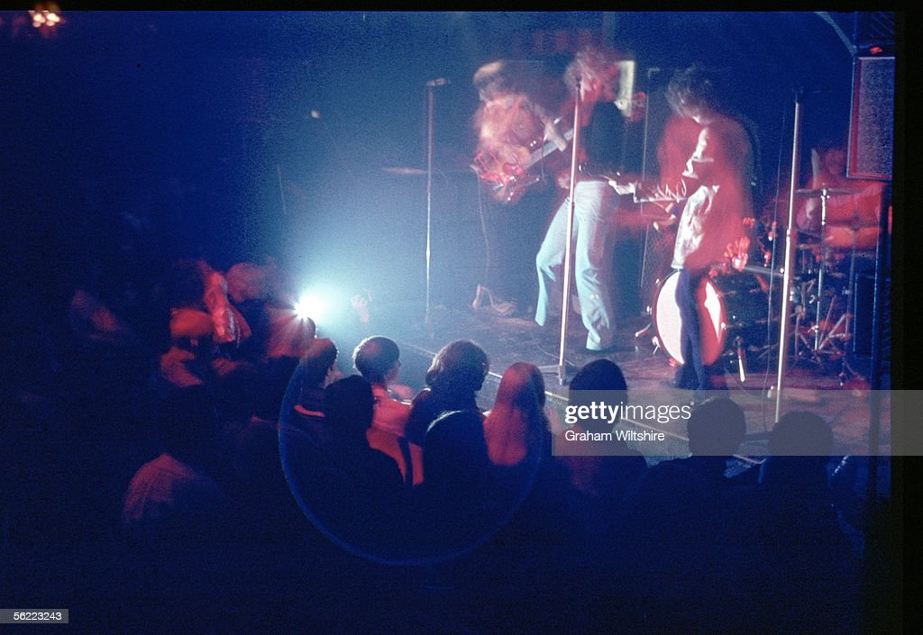 The New Yardbirds perform at the Marquee Club in London, 18th October 1968. The concert was the first in the UK by the line-up that was to become Led Zeppelin. Left to right: John Paul Jones, Robert Plant, Jimmy Page and John Bonham (1947 - 1980).