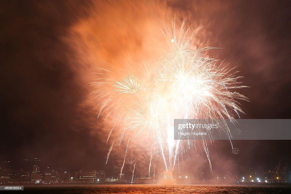 New Zealand Celebrates With Fireworks On New Year's Eve : News Photo