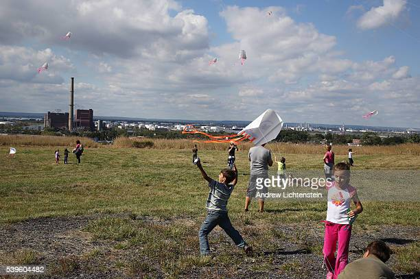 The New York City parks department offers the public a chance to view the new Fresh Kills Park built on top of what used to be the largest trash dump...