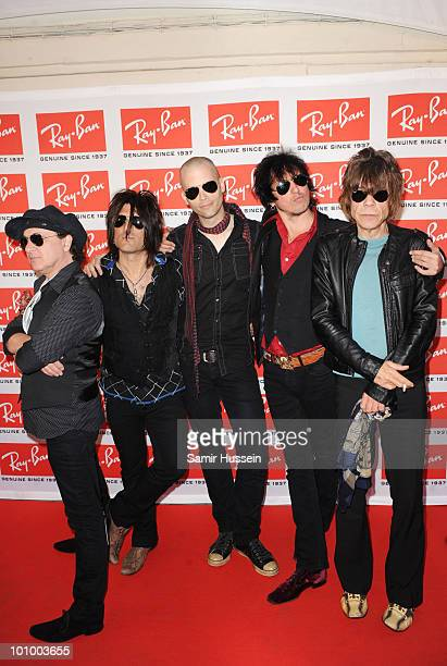 The New York Dolls attend the Ray-Ban Aviator: The Essentials event at Scala on May 26, 2010 in London, England.