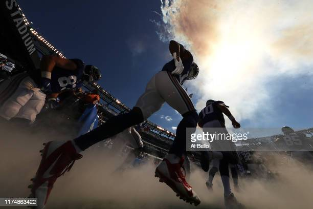 The New York Giants take the field against the Buffalo Bills during their game at MetLife Stadium on September 15 2019 in East Rutherford New Jersey