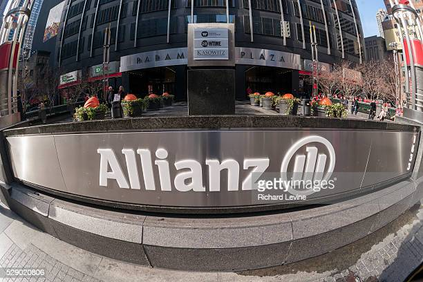 The New York headquarters of German Allianz insurance company on Sunday November 23 2014 Allianz plans to sue Volkswagen over its drop in share price...