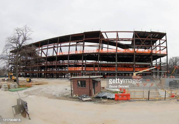 The New York Islanders future home adjacent to Belmont Racetrack has suspended construction during the coronavirus pandemic The arena was...